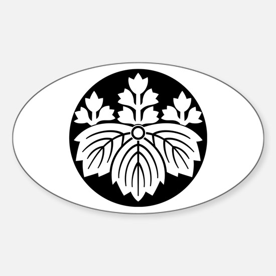 Pointed-leaf paulownia with 5-3 blooms Decal