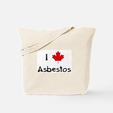 I Love Asbestos Tote Bag