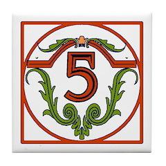 Red Spanish Letter Tile 5 Tile Coaster