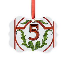 Red Spanish Letter Tile 5 Ornament