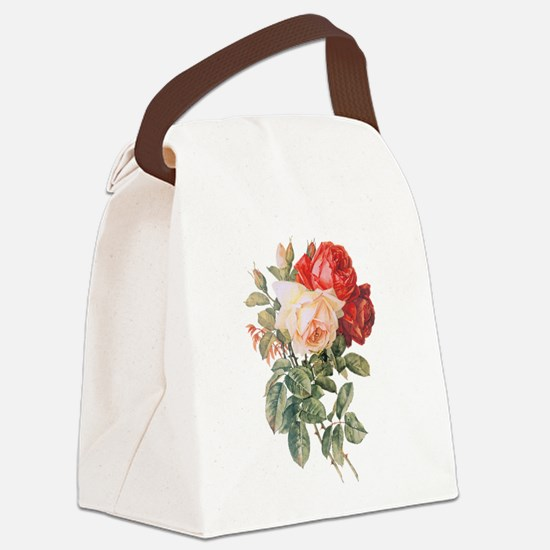 Three Roses Canvas Lunch Bag