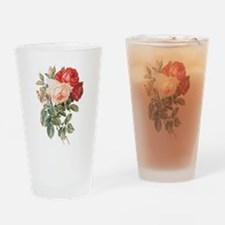 Three Roses Drinking Glass
