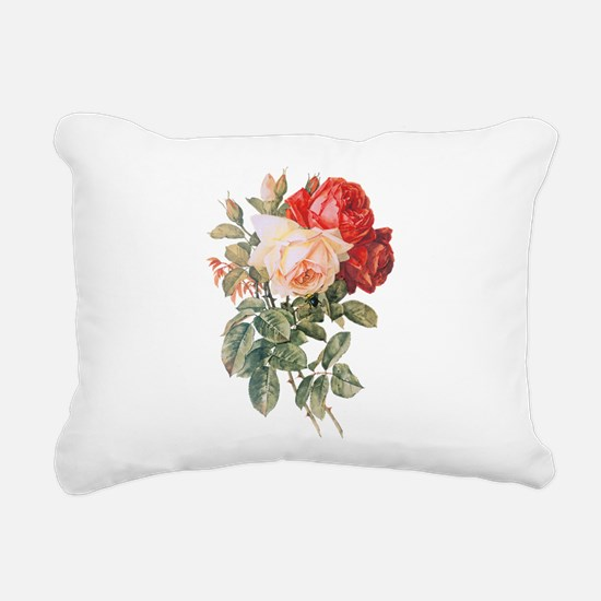 Three Roses Rectangular Canvas Pillow