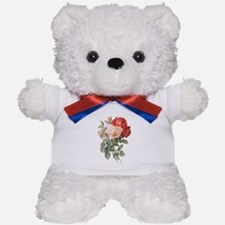 Three Roses Teddy Bear