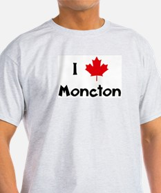 I Love Moncton Ash Grey T-Shirt