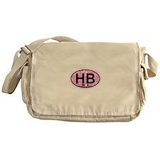 Hampton Beach NH - Oval Design. Messenger Bag