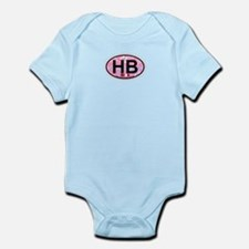 Hampton Beach NH - Oval Design. Infant Bodysuit