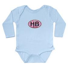 Hampton Beach NH - Oval Design. Long Sleeve Infant