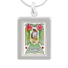 Art Deco Cat 1923, 90th Silver Portrait Necklace