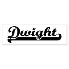 Black jersey: Dwight Bumper Bumper Sticker