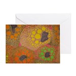 brown fat by Odra Noel Greeting Cards