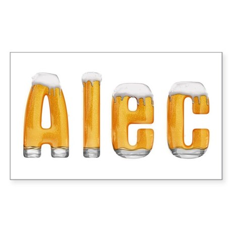 Alec Beer Rectangle Sticker