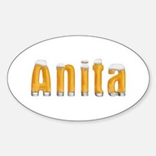 Anita Beer Oval Decal