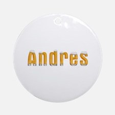 Andres Beer Round Ornament