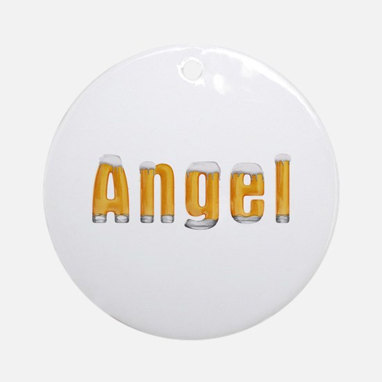 Angel Beer Round Ornament