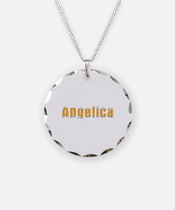 Angelica Beer Necklace Circle Charm