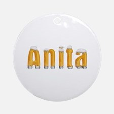 Anita Beer Round Ornament