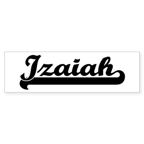 Black jersey: Izaiah Bumper Sticker