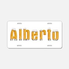 Alberto Beer Aluminum License Plate