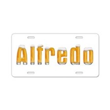 Alfredo Beer Aluminum License Plate