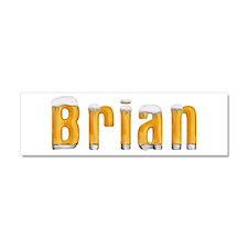 Brian Beer 10x3 Car Magnet