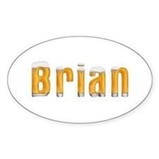 Brian Beer Oval Decal