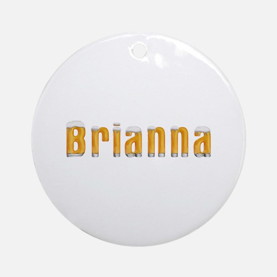 Brianna Beer Round Ornament