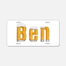 Ben Beer Aluminum License Plate