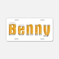 Benny Beer Aluminum License Plate