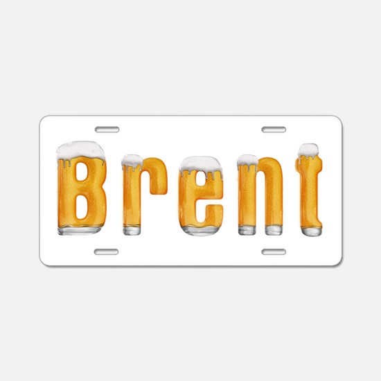 Brent Beer Aluminum License Plate