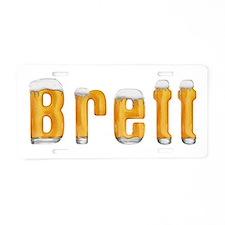 Brett Beer Aluminum License Plate