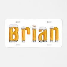 Brian Beer Aluminum License Plate
