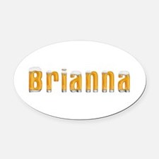 Brianna Beer Oval Car Magnet