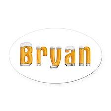 Bryan Beer Oval Car Magnet