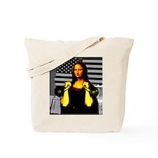Mona Lisa Hits the Bells Tote Bag