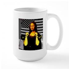 Mona Lisa Hits the Bells Ceramic Mugs