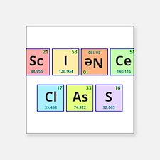 "Science Class Square Sticker 3"" x 3"""