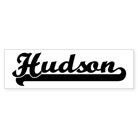 Black jersey: Hudson Bumper Sticker