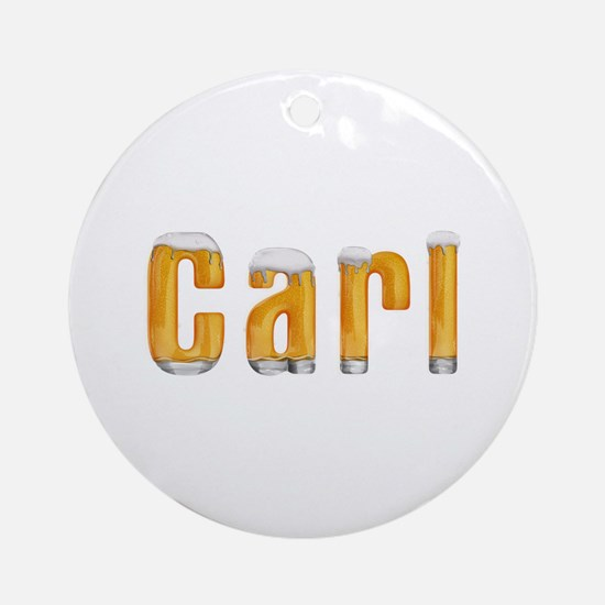 Carl Beer Round Ornament
