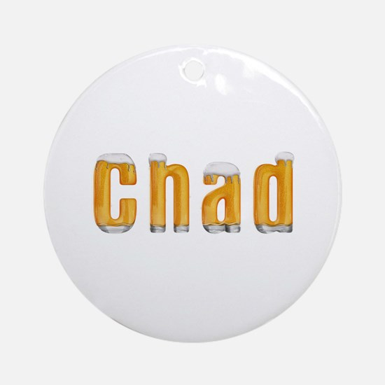 Chad Beer Round Ornament