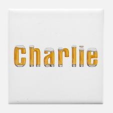 Charlie Beer Tile Coaster