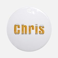 Chris Beer Round Ornament