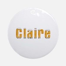 Claire Beer Round Ornament