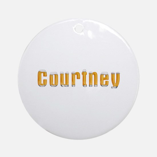 Courtney Beer Round Ornament