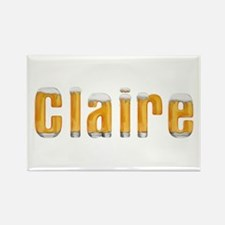 Claire Beer Rectangle Magnet