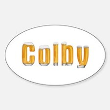 Colby Beer Oval Decal