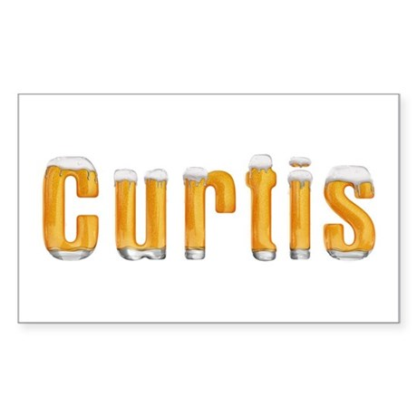 Curtis Beer Rectangle Sticker