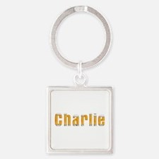 Charlie Beer Square Keychain