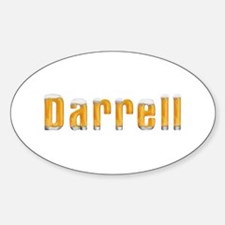 Darrell Beer Oval Decal