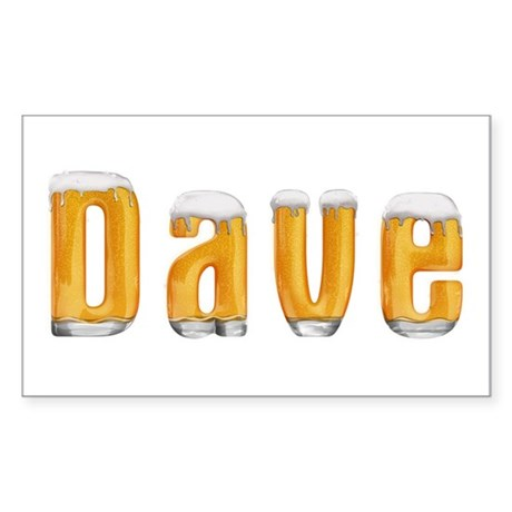 Dave Beer Rectangle Sticker